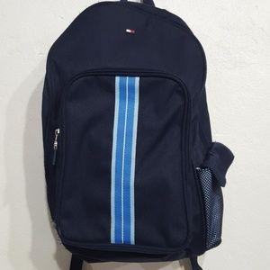 Tommy Hilfiger navy backpack.